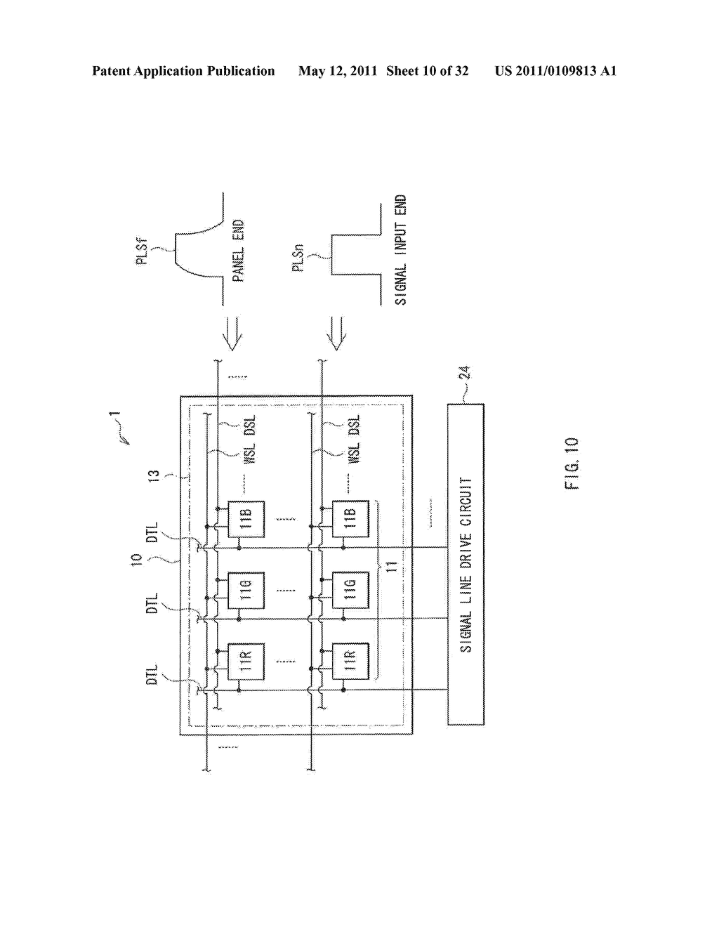 DISPLAY DEVICE AND DRIVE METHOD THEREFOR, AND ELECTRONIC UNIT - diagram, schematic, and image 11