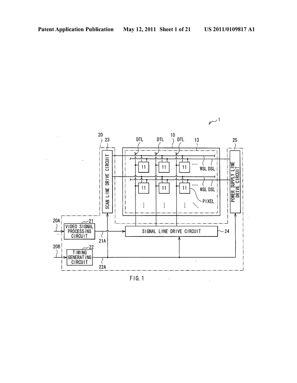 Display device, method of driving the same, and electronic unit - diagram, schematic, and image 02