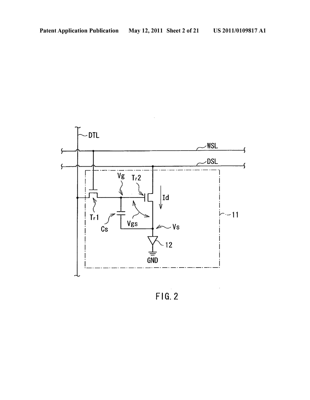 Display device, method of driving the same, and electronic unit - diagram, schematic, and image 03