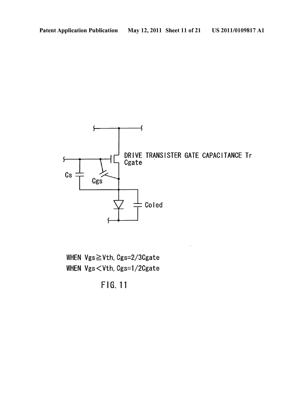 Display device, method of driving the same, and electronic unit - diagram, schematic, and image 12