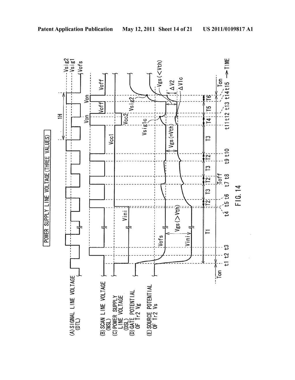 Display device, method of driving the same, and electronic unit - diagram, schematic, and image 15