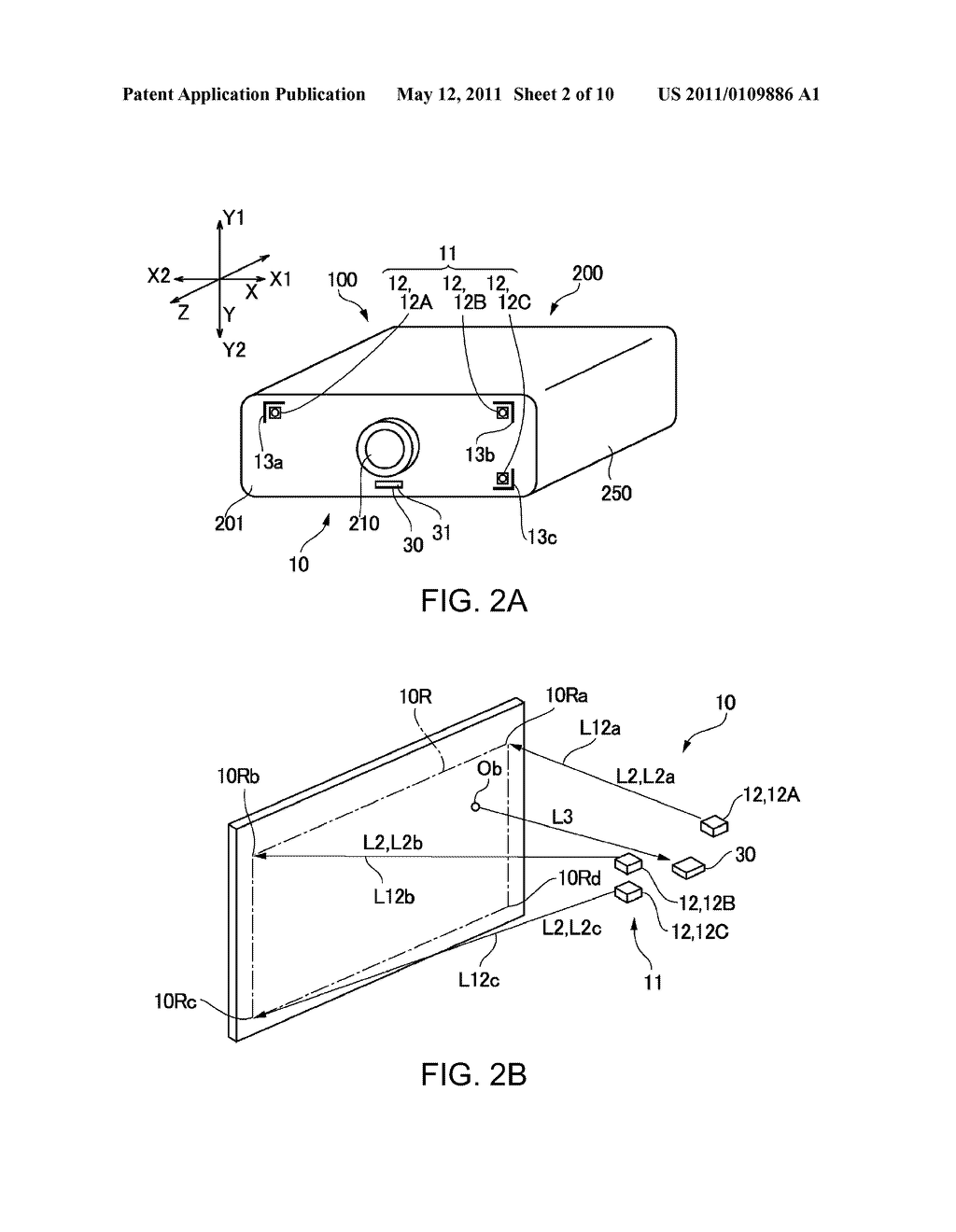 PROJECTION DISPLAY DEVICE WITH POSITION DETECTION FUNCTION - diagram, schematic, and image 03