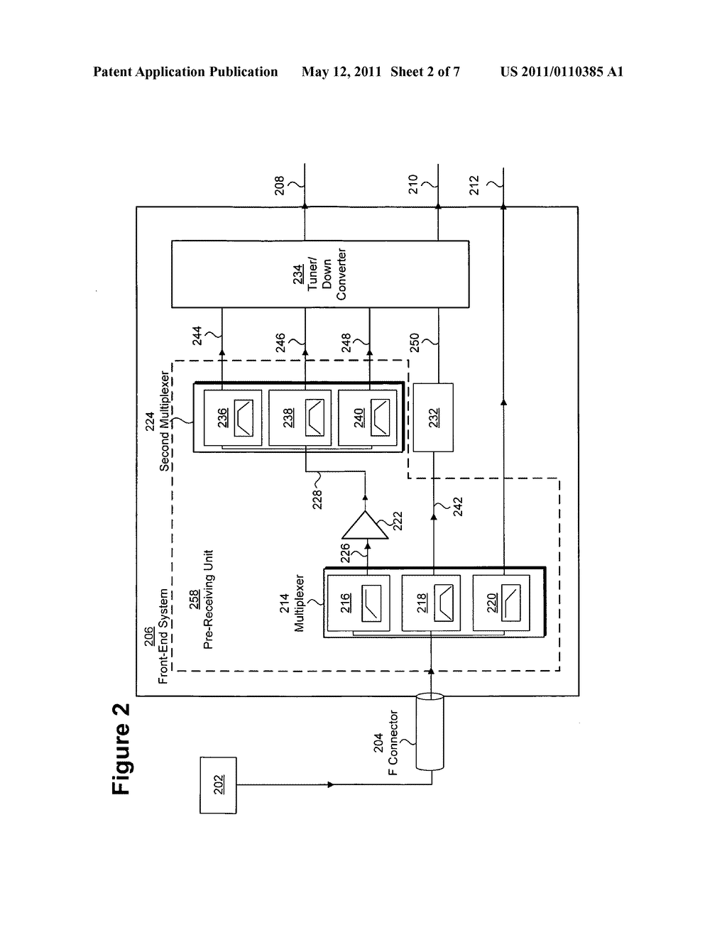 Front-end system for processing composite wideband signals and method for utilizing same - diagram, schematic, and image 03