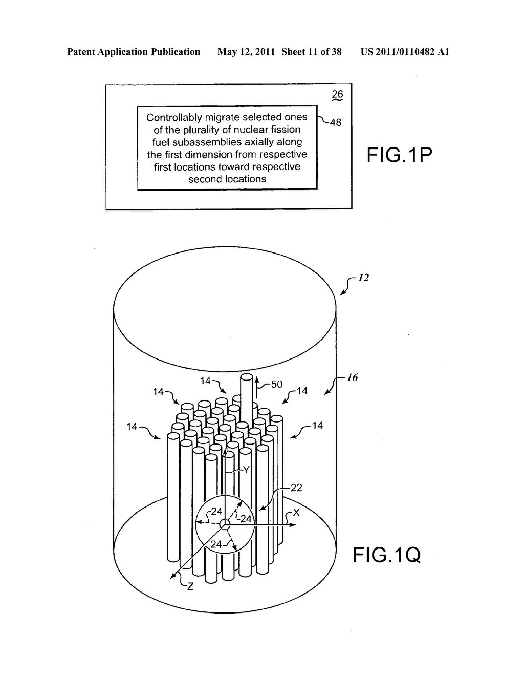 Methods and systems for migrating fuel assemblies in a nuclear fission reactor - diagram, schematic, and image 12