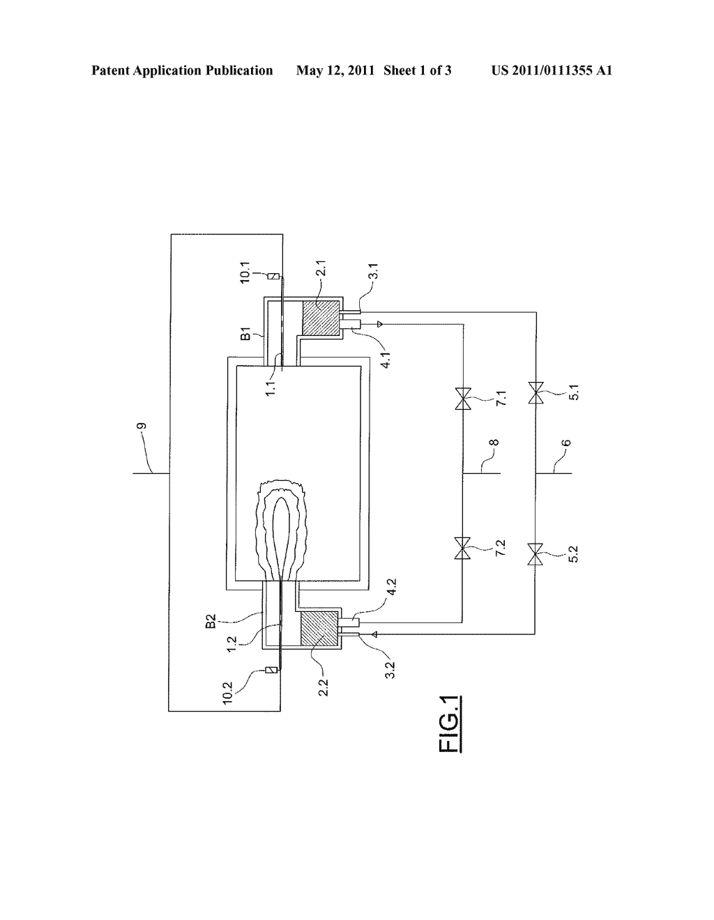 DEVICE FOR CONTROLLING REGENERATIVE BURNERS - diagram, schematic, and image 02