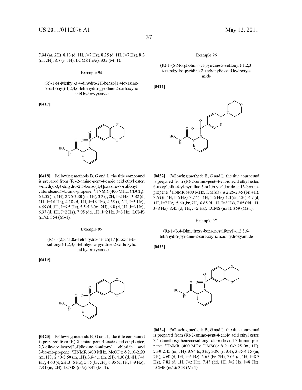 SELECTIVE HYDROXAMIC ACID BASED MMP-12 AND MMP-13 INHIBITORS - diagram, schematic, and image 38
