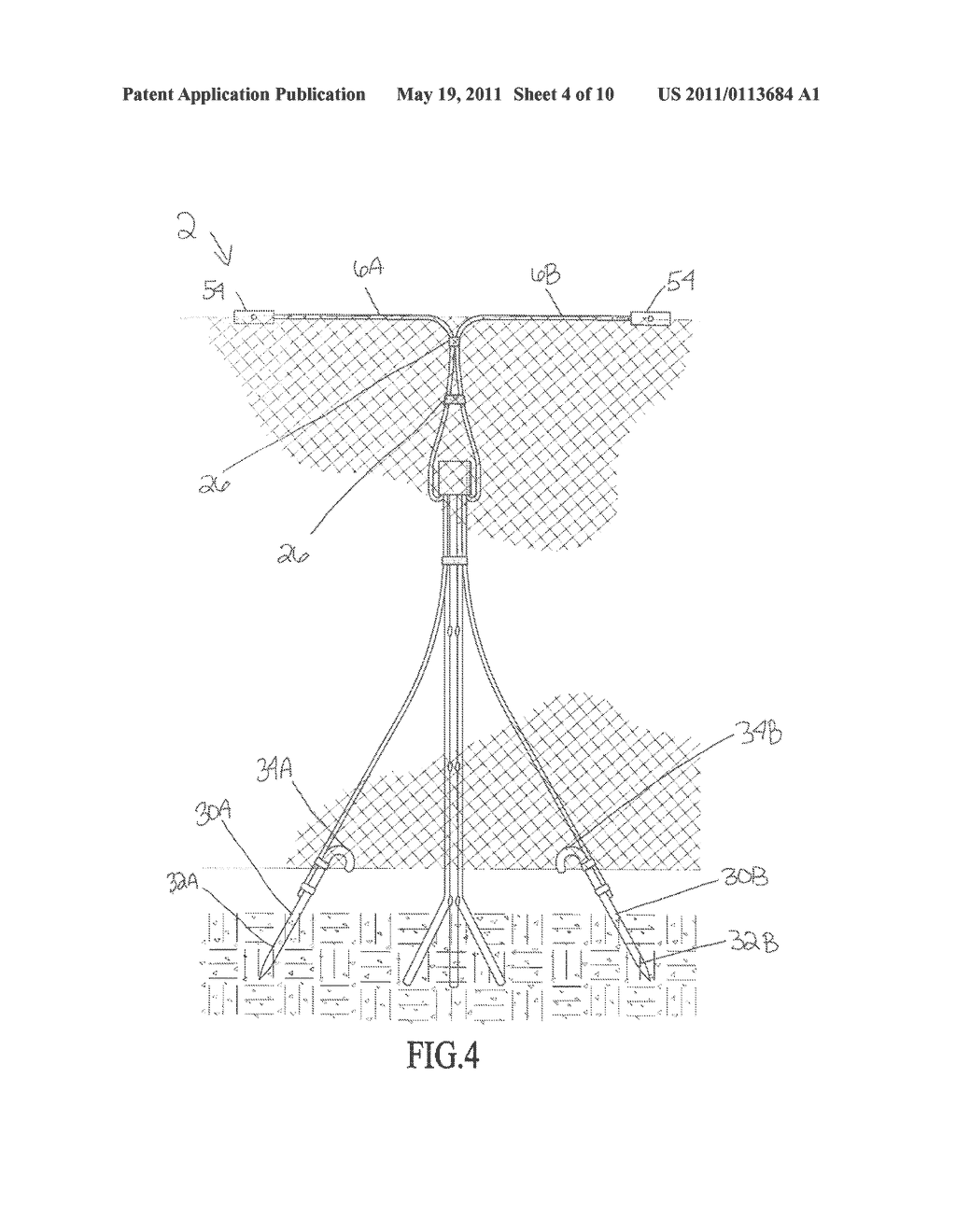 METHOD AND DEVICE FOR A CONFIGURABLY SUPPORTING TRELLIS OR BARRIER MATERIAL - diagram, schematic, and image 05