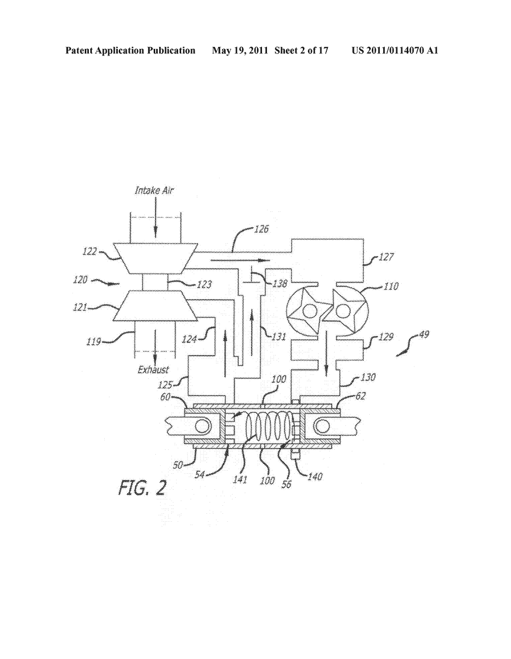 Apparatus and method for controlling swirl in a ported, two-stroke, internal combustion engine - diagram, schematic, and image 03