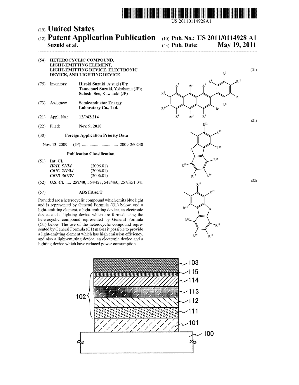 Heterocyclic Compound, Light-Emitting Element, Light-Emitting Device, Electronic Device, and Lighting Device - diagram, schematic, and image 01
