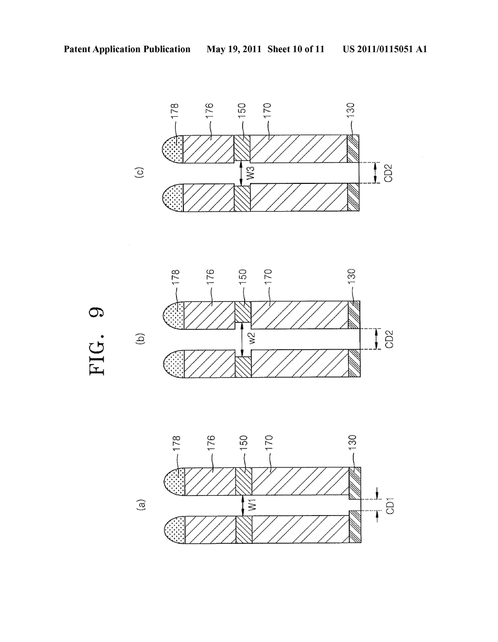 SEMICONDUCTOR DEVICES INCLUDING 3-D STRUCTURES WITH SUPPORT PAD STRUCTURES AND RELATED METHODS AND SYSTEMS - diagram, schematic, and image 11