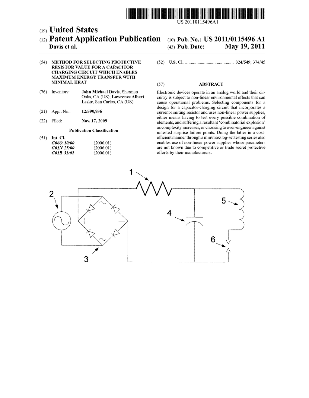 Method For Selecting Protective Resistor Value A Capacitor Diagram The Is Charging Circuit Which Enables Maximum Energy Transfer With Minimal Heat