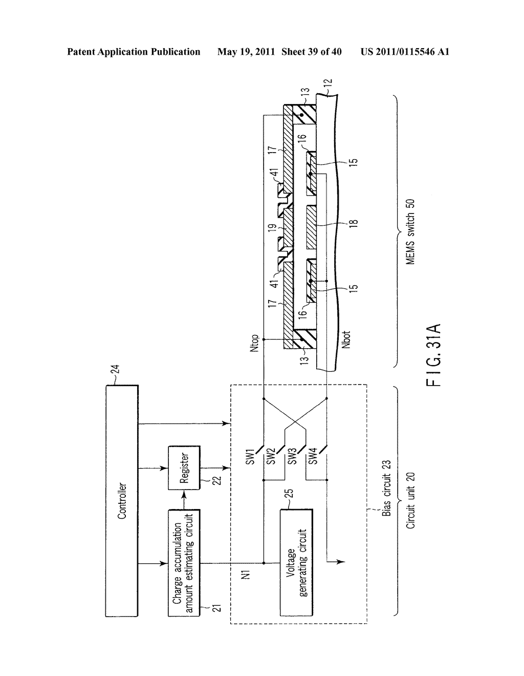 SEMICONDUCTOR INTEGRATED CIRCUIT INCLUDING CIRCUIT FOR DRIVING ELECTROSTATIC ACTUATOR, MICRO-ELECTRO-MECHANICAL SYSTEMS, AND DRIVING METHOD OF ELECTROSTATIC ACTUATOR - diagram, schematic, and image 40
