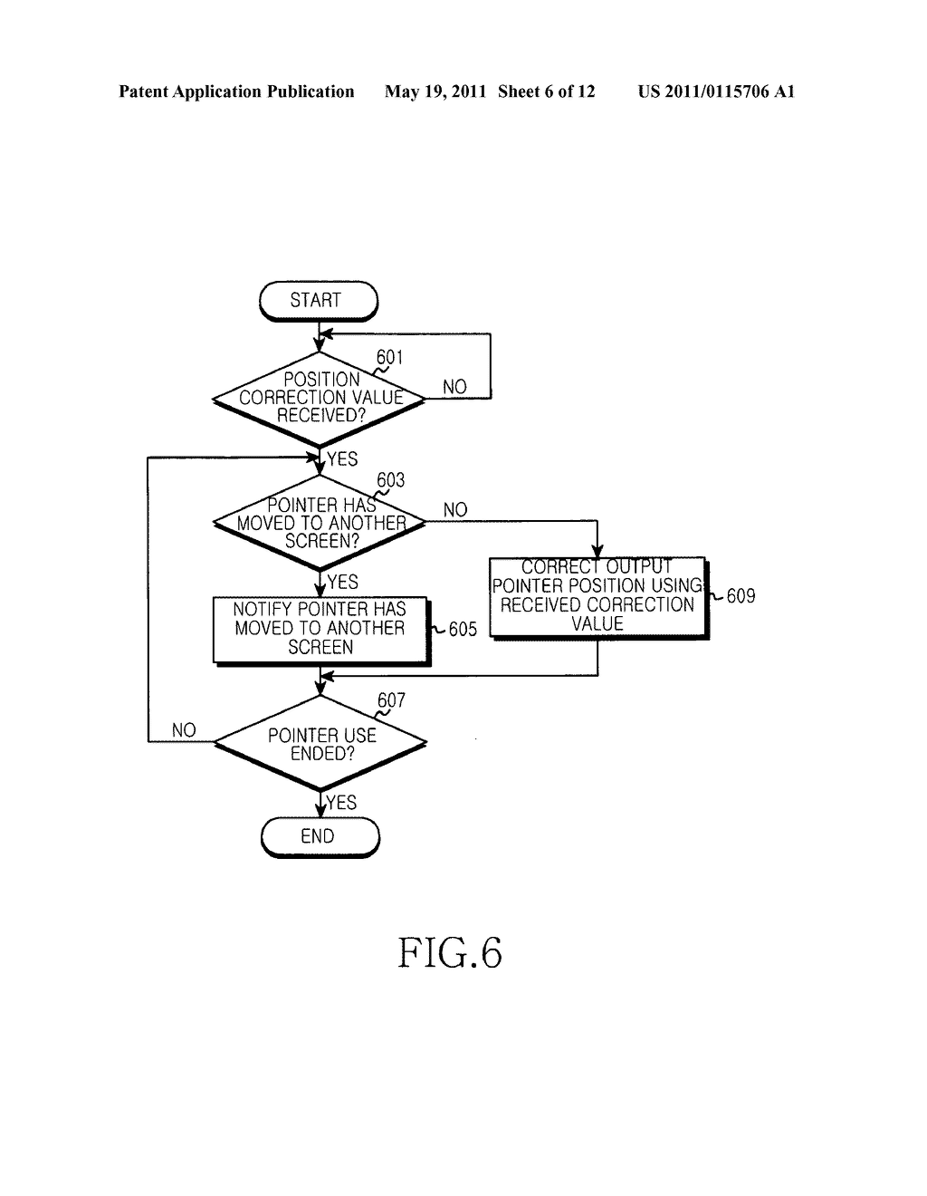 Apparatus and method for providing pointer controlfunction in portable terminal - diagram, schematic, and image 07
