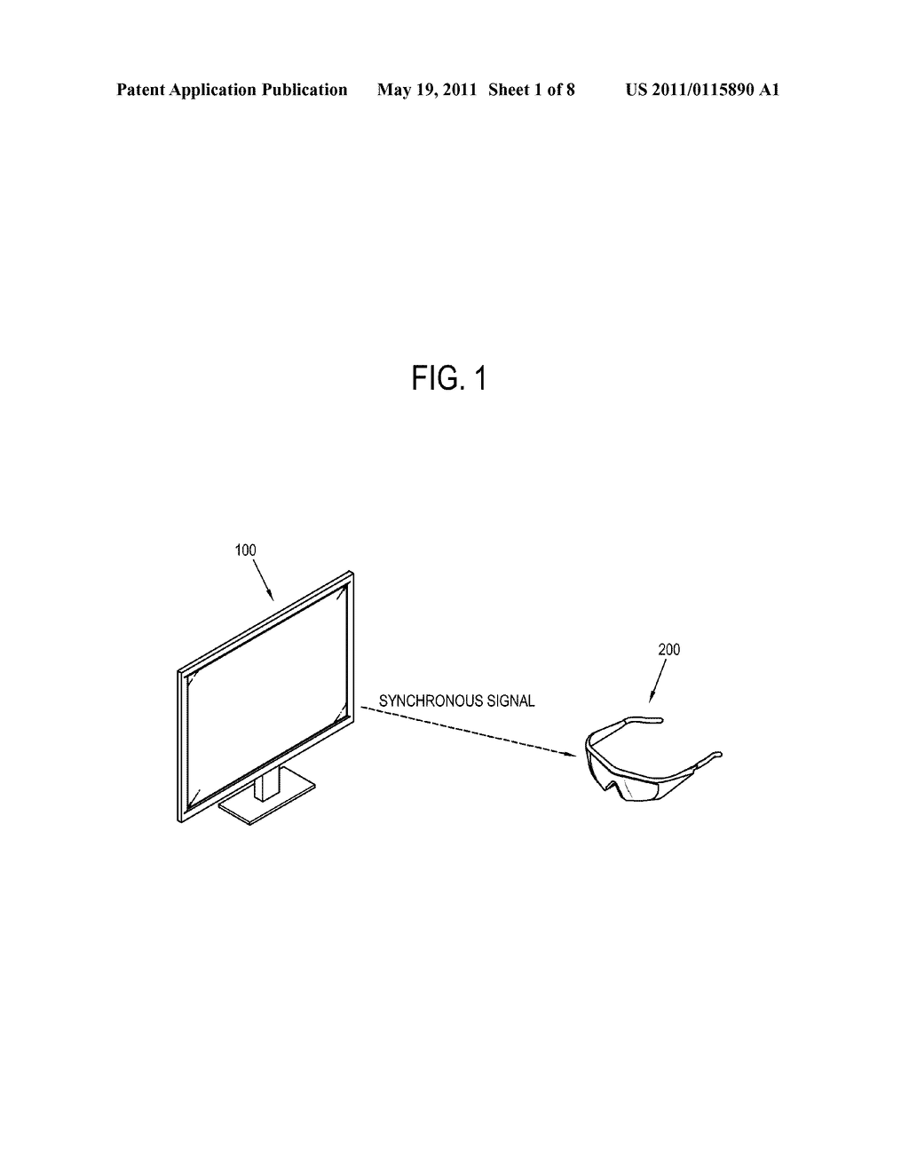 SHUTTER GLASSES FOR STEREOSCOPY, IMAGE DISPLAY SYSTEM COMPRISING THE SAME AND CONTROL METHOD THEREOF - diagram, schematic, and image 02