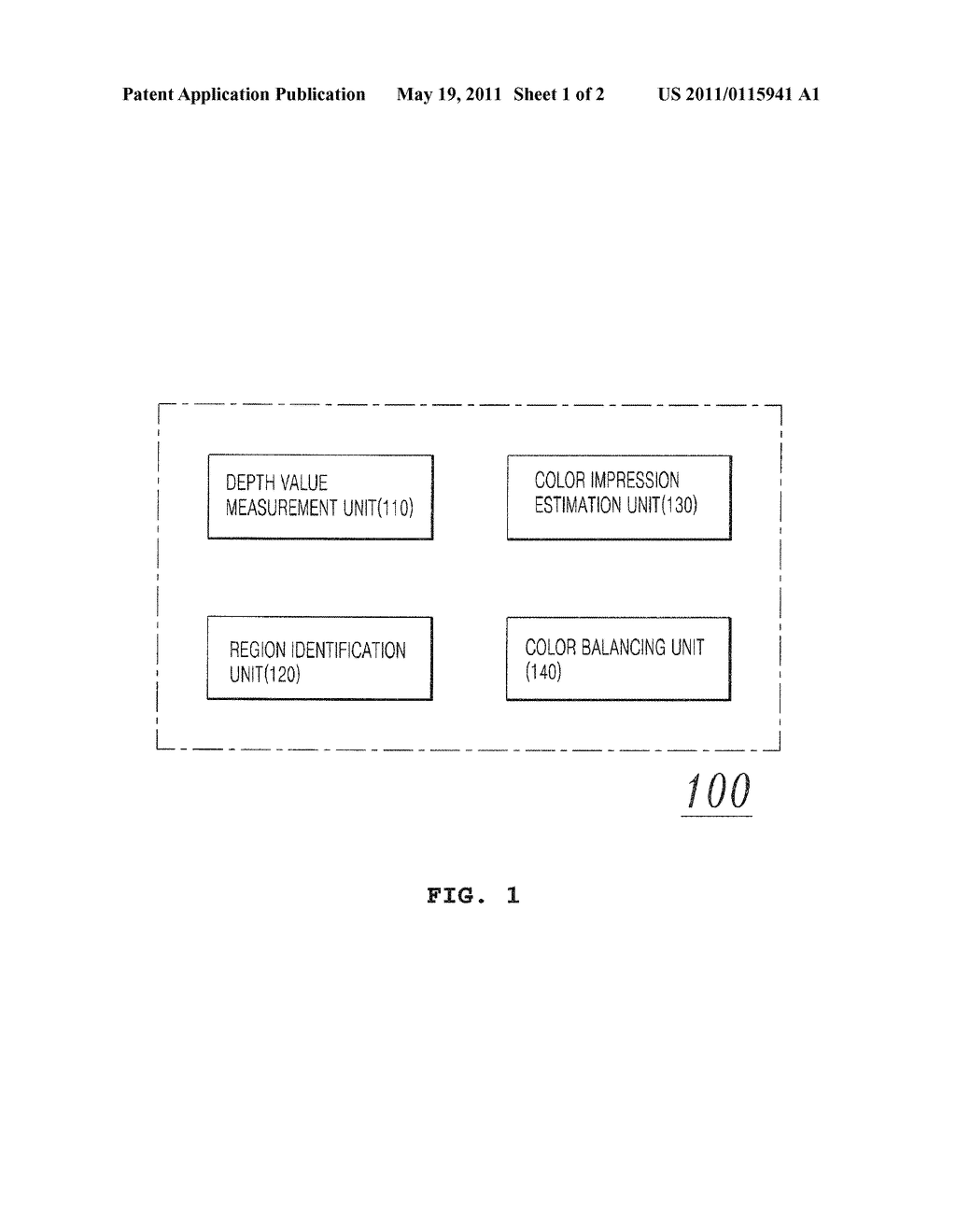 APPARATUS AND METHOD FOR BALANCING COLOR OF FLASHED IMAGE USING DEPTH ESTIMATION - diagram, schematic, and image 02