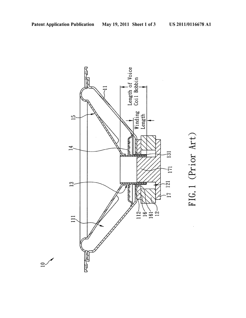 Speaker having a long voice coil bobbin and dampers - diagram, schematic,  and image 02