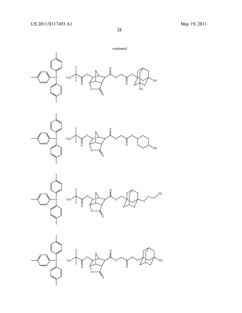 SALT AND PHOTORESIST COMPOSITION CONTAINING THE SAME - diagram, schematic, and image 29