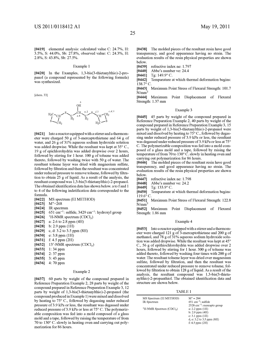 THIETANE COMPOUND, POLYMERIZABLE COMPOSITION CONTAINING THE SAME, RESIN, METHOD FOR PRODUCING THE RESIN, AND USE OF THE POLYMERIZABLE COMPOSITION AND THE RESIN - diagram, schematic, and image 26