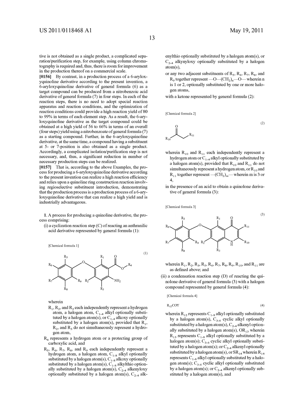 PROCESS FOR PRODUCING 6-ARYLOXYQUINOLINE DERIVATIVE AND INTERMEDIATE THEREFOR - diagram, schematic, and image 14