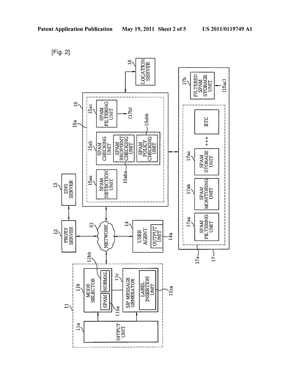 SYSTEM AND METHOD FOR FILTERING SIP-BASED SPAM - diagram, schematic, and image 03