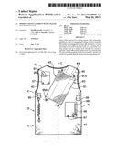 Sports utility garment with angled holder/holster diagram and image