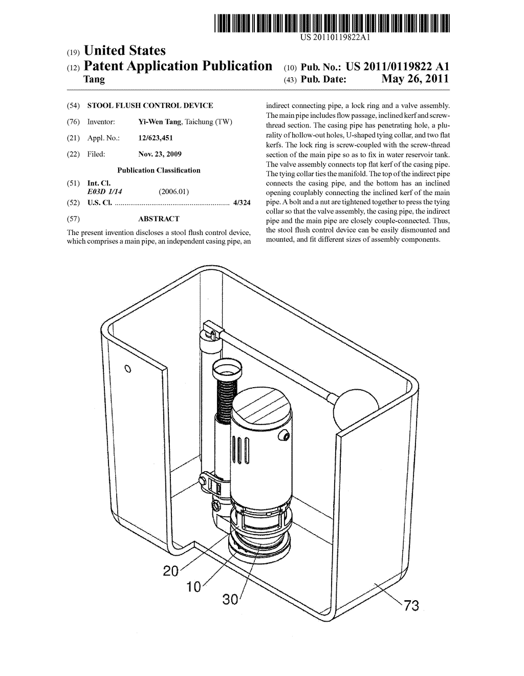 STOOL FLUSH CONTROL DEVICE - diagram, schematic, and image 01