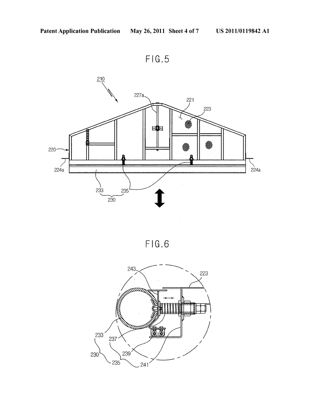 BOARDING BRIDGE WITH MINUTE APPROACHING DEVICE AND SHOCK ABSORBING PART AND OPERATION METHOD THEREOF - diagram, schematic, and image 05