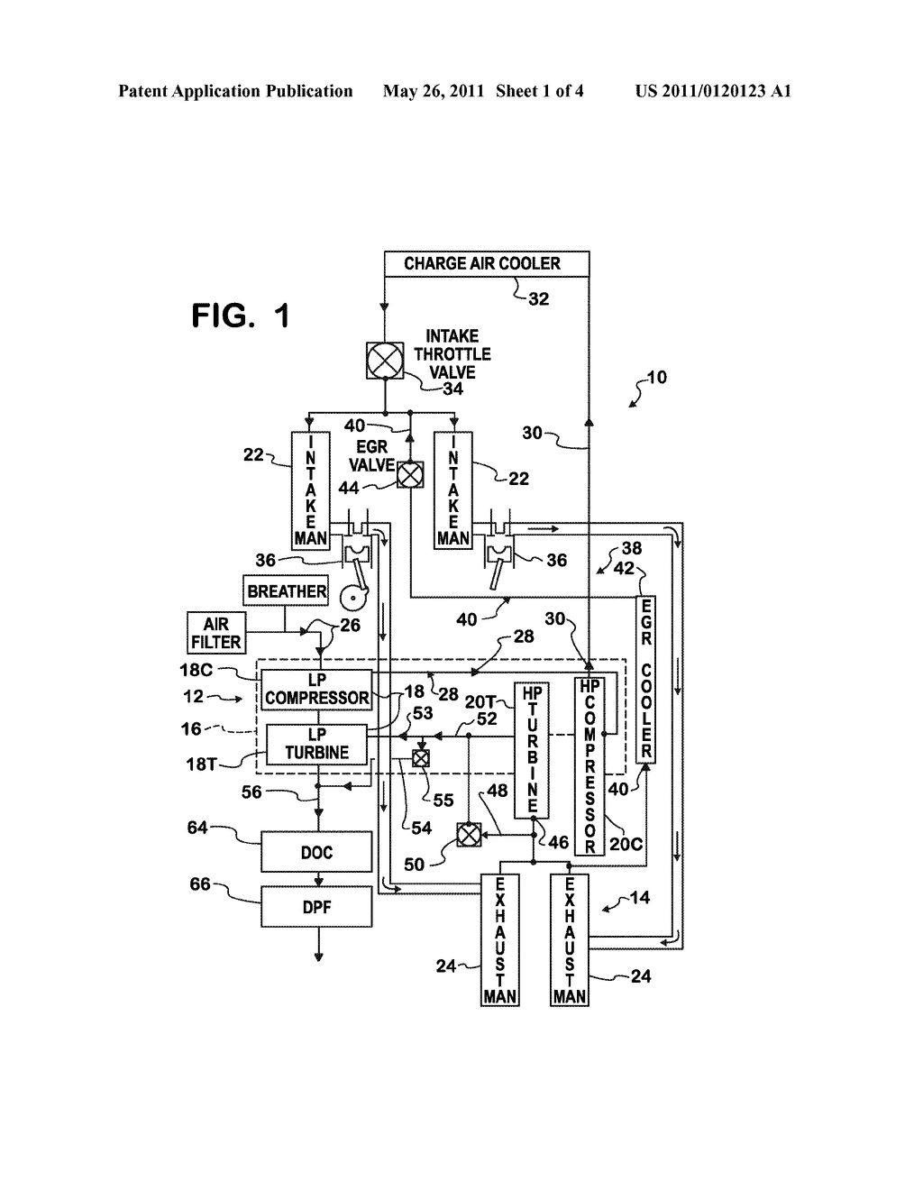 Low Pressure Turbine Waste Gate For Diesel Engine Having Two Stage Mtd Diagram Turbocharger Schematic And Image 02