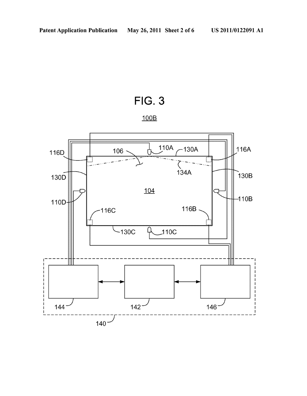 METHODS AND APPARATUS FOR SENSING TOUCH EVENTS ON A DISPLAY - diagram, schematic, and image 03