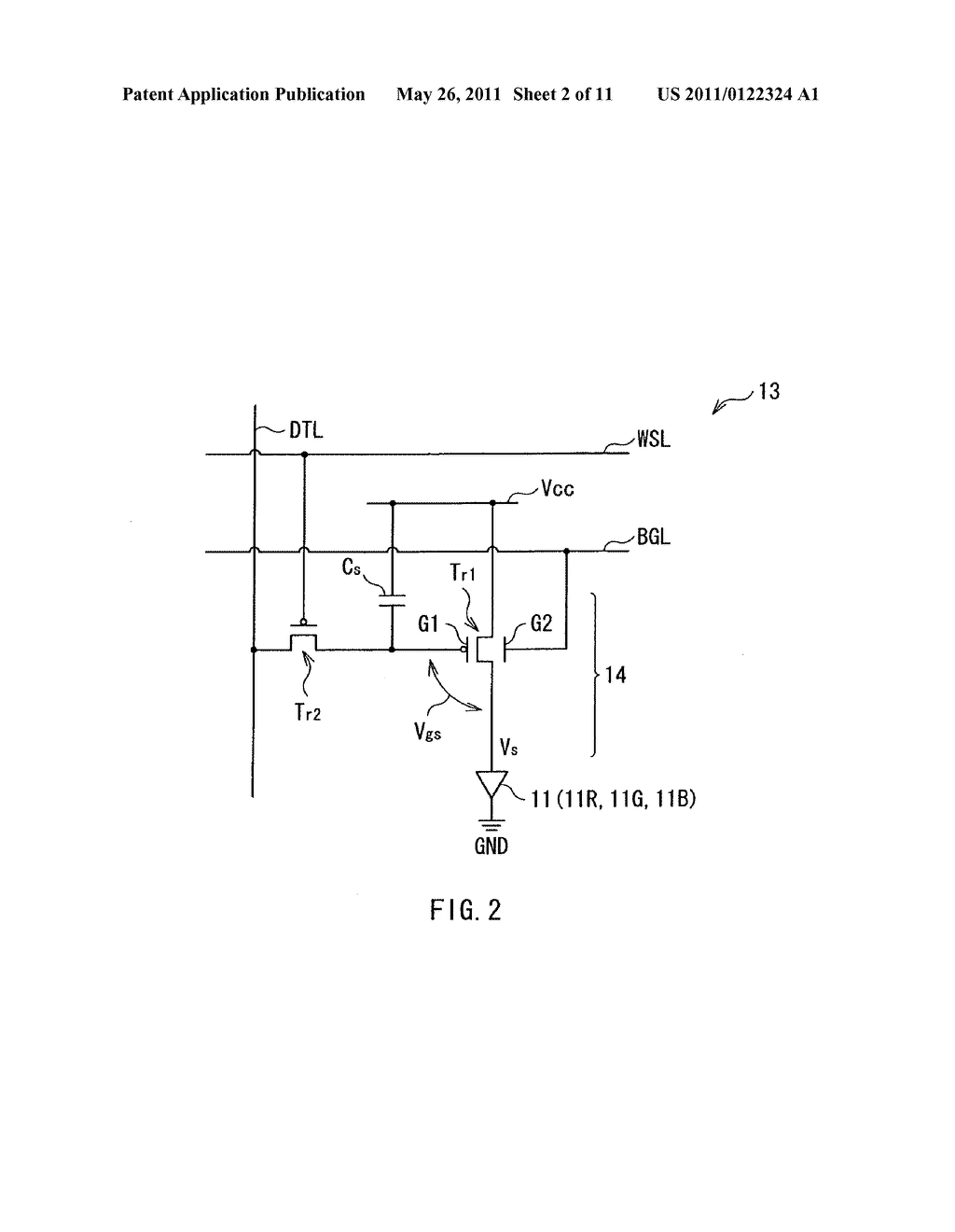 Display apparatus, method of driving the display device, and electronic device - diagram, schematic, and image 03