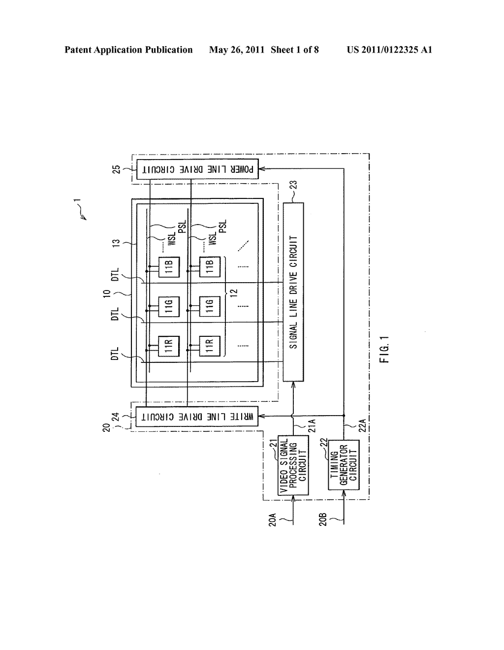 Display device, method of driving the display device, and electronic device - diagram, schematic, and image 02