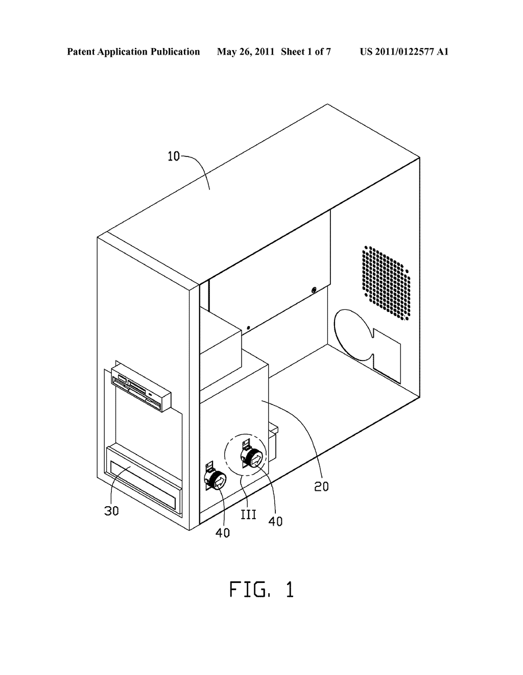 FASTENER FOR SECURING ELECTRONIC DEVICE AND COMPUTER UTILIZING THE SAME - diagram, schematic, and image 02