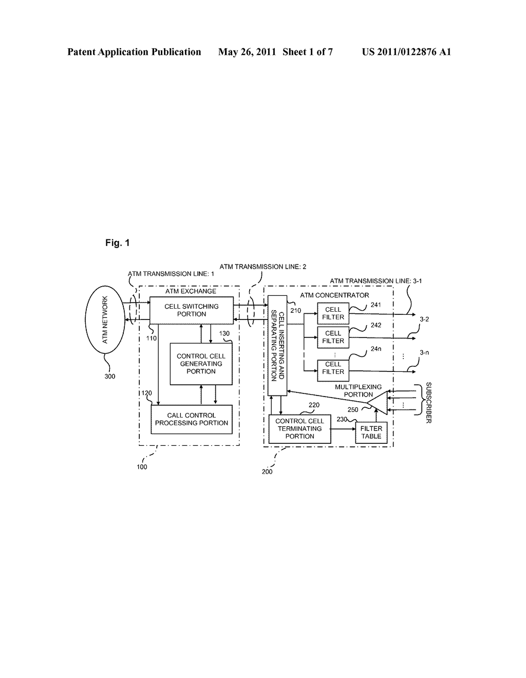 SUBSCRIBER NETWORK SYSTEM AND METHOD OF SETTING INFORMATION IN CONCENTRATOR THEREOF - diagram, schematic, and image 02
