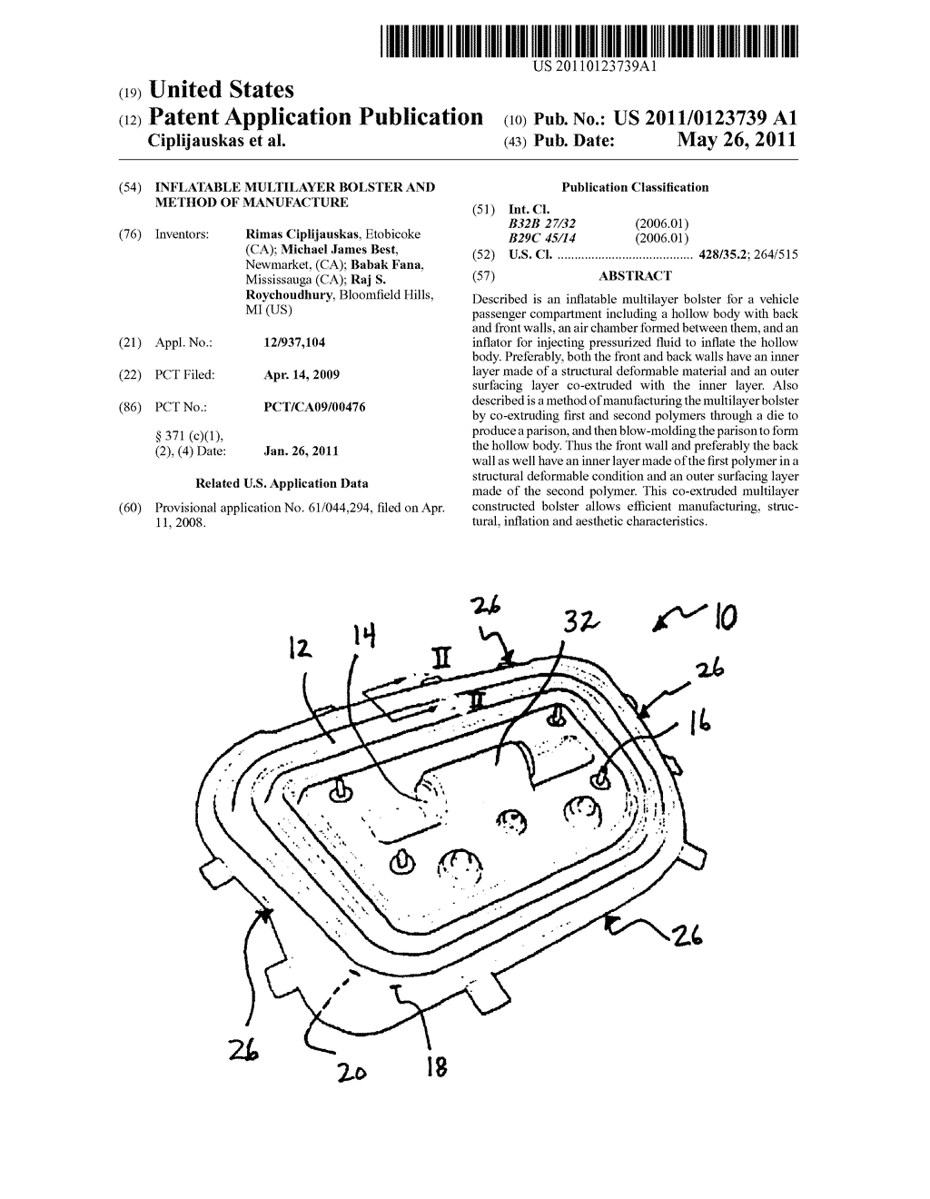 INFLATABLE MULTILAYER BOLSTER AND METHOD OF MANUFACTURE - diagram, schematic, and image 01