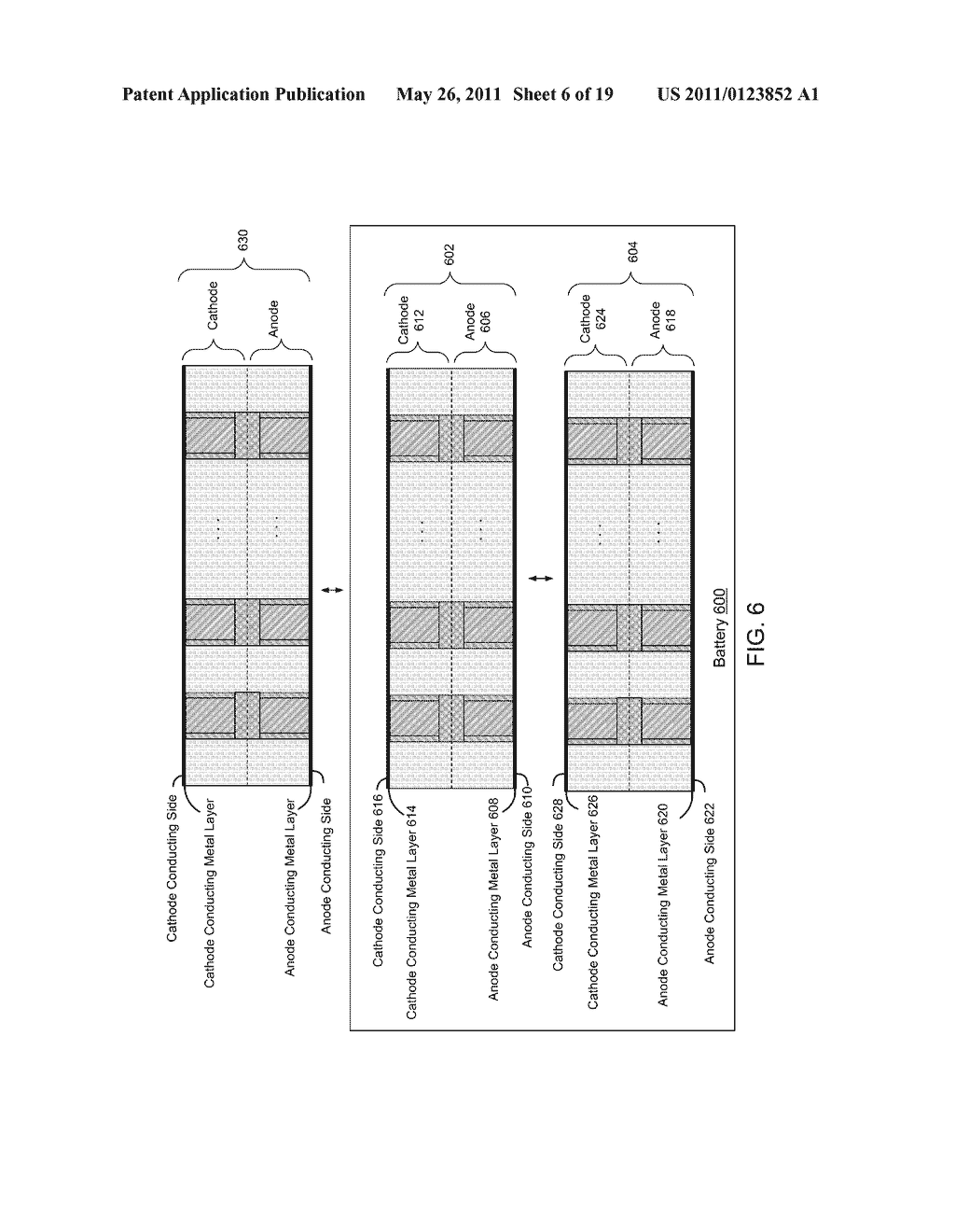 Thin Film Electrodes and Battery Cells, and Methods of Fabrication - diagram, schematic, and image 07