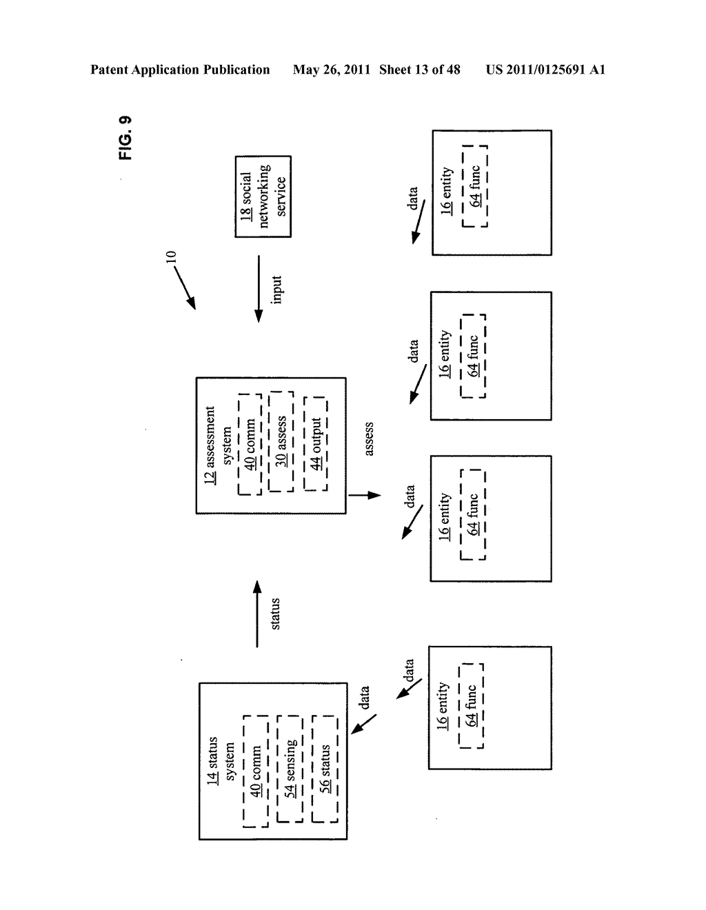 System and method for output of comparison of physical entities of a received selection and associated with a social network - diagram, schematic, and image 14