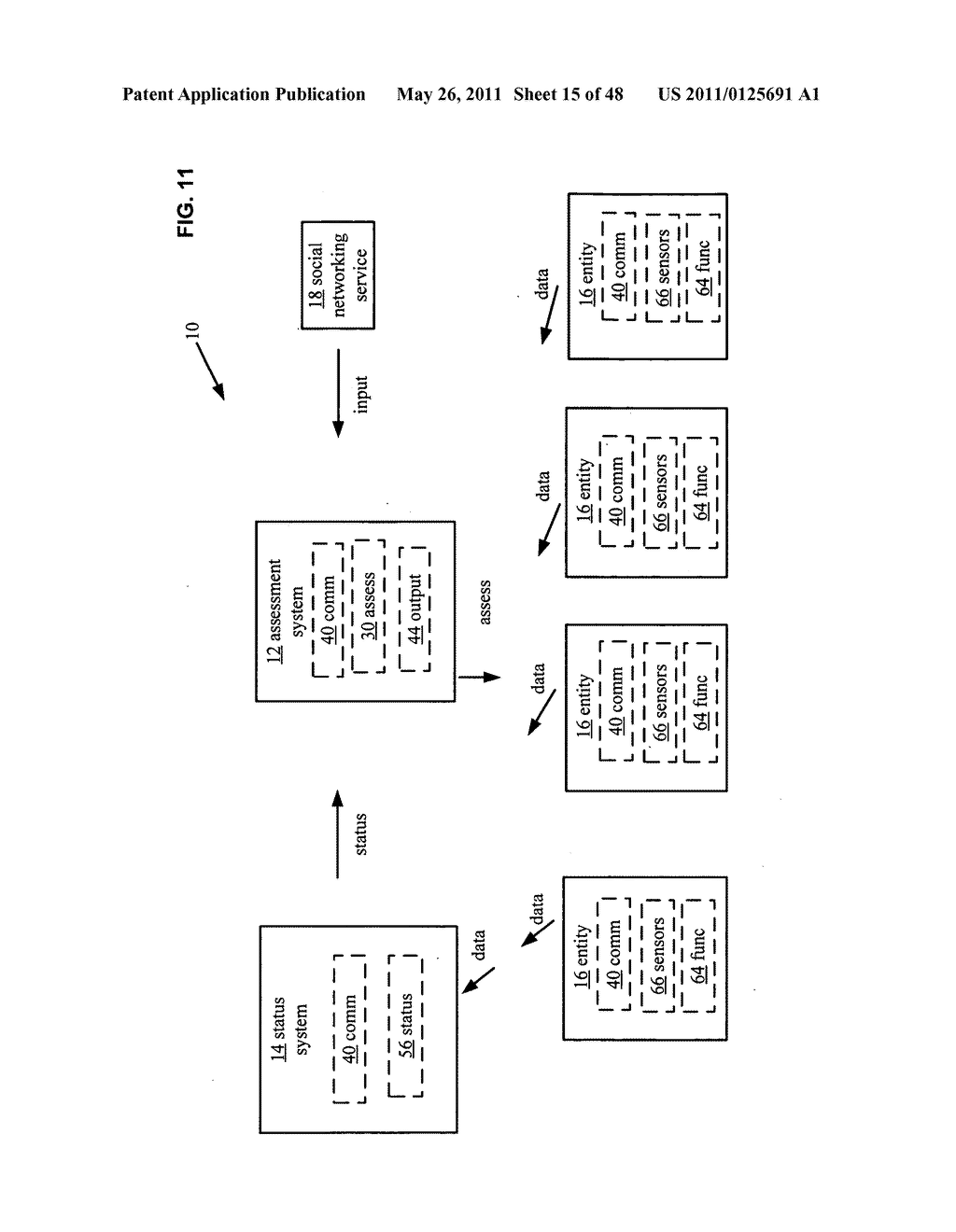 System and method for output of comparison of physical entities of a received selection and associated with a social network - diagram, schematic, and image 16