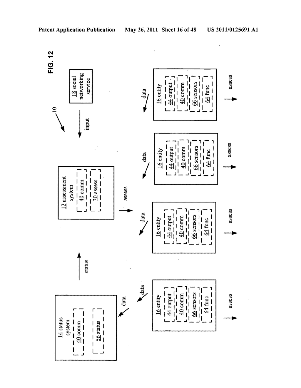 System and method for output of comparison of physical entities of a received selection and associated with a social network - diagram, schematic, and image 17