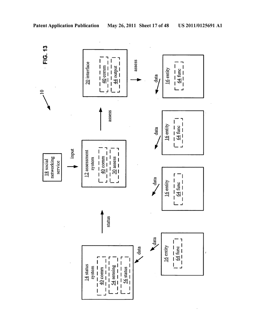 System and method for output of comparison of physical entities of a received selection and associated with a social network - diagram, schematic, and image 18