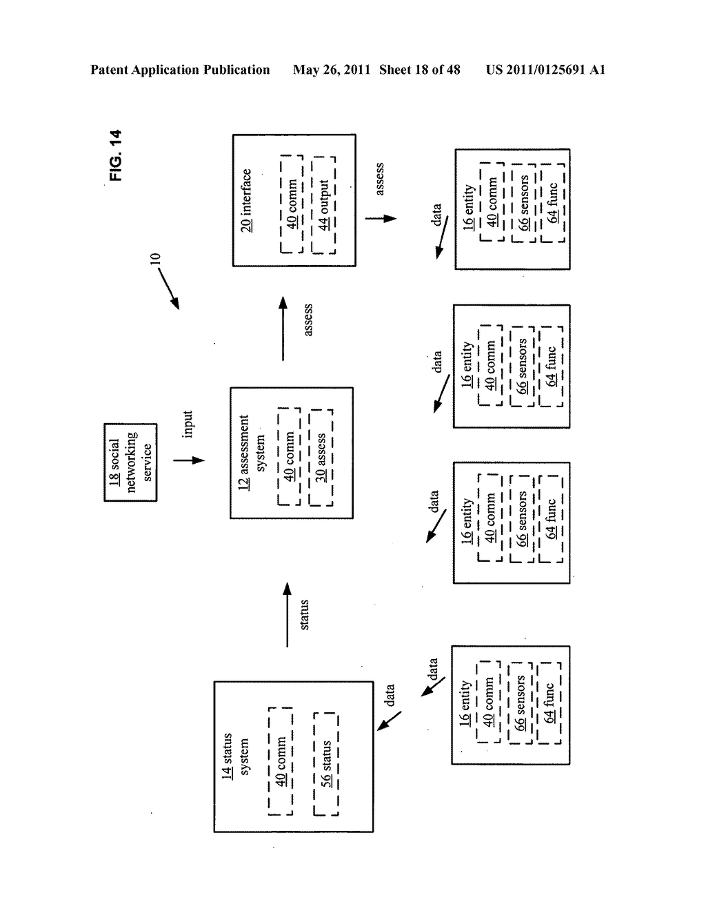 System and method for output of comparison of physical entities of a received selection and associated with a social network - diagram, schematic, and image 19
