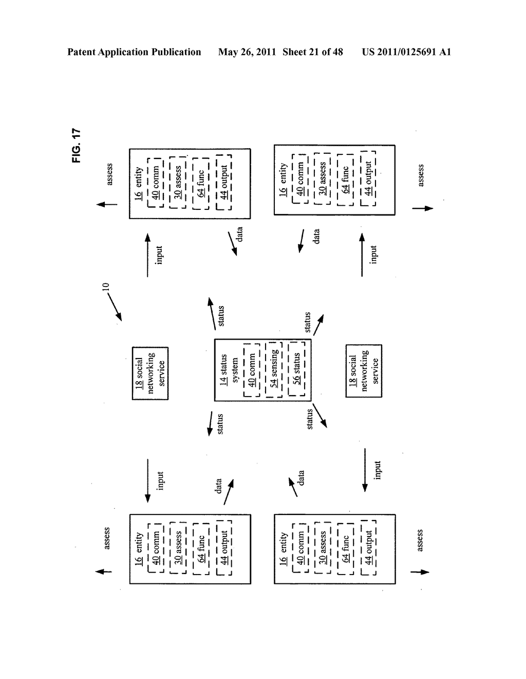 System and method for output of comparison of physical entities of a received selection and associated with a social network - diagram, schematic, and image 22