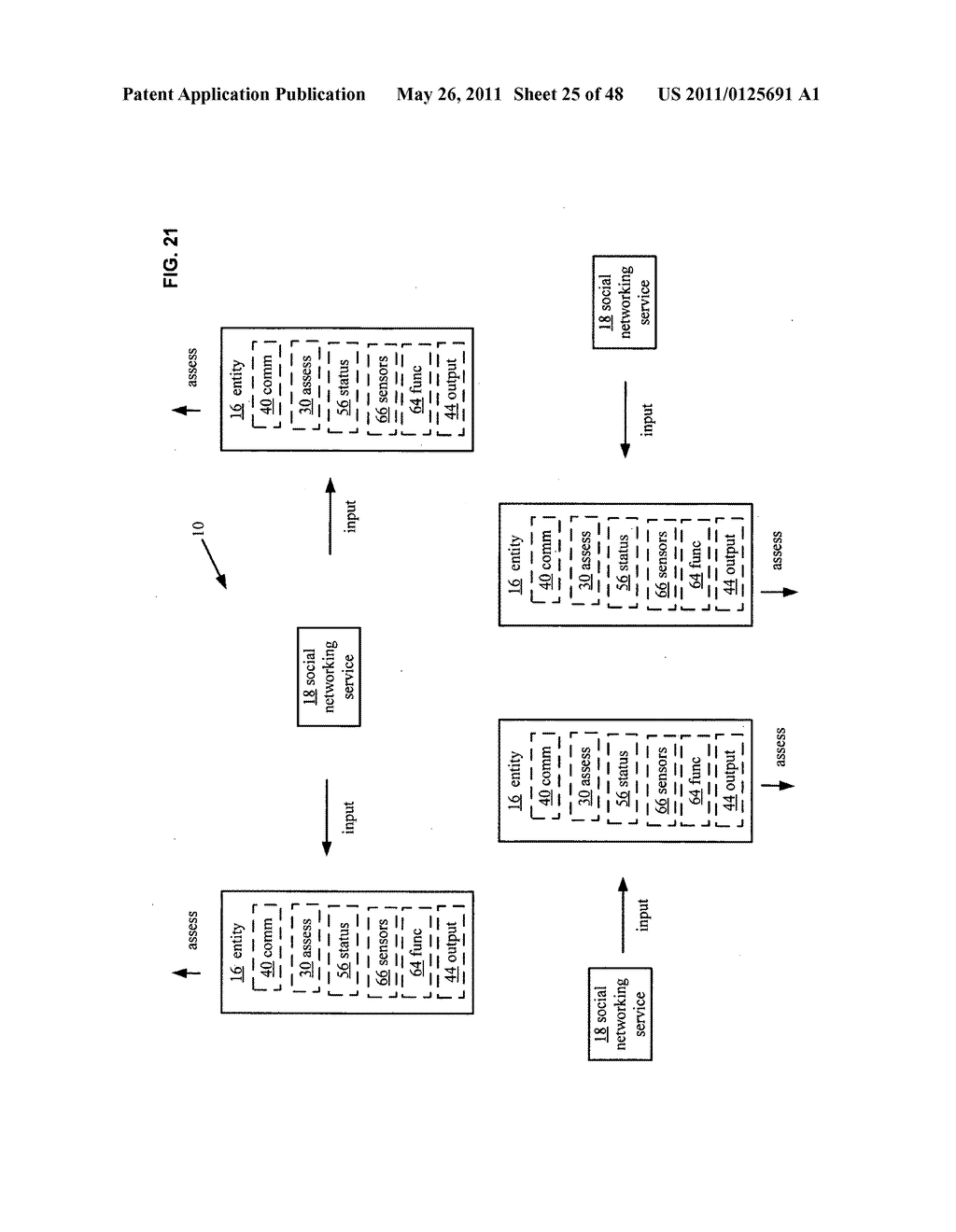 System and method for output of comparison of physical entities of a received selection and associated with a social network - diagram, schematic, and image 26
