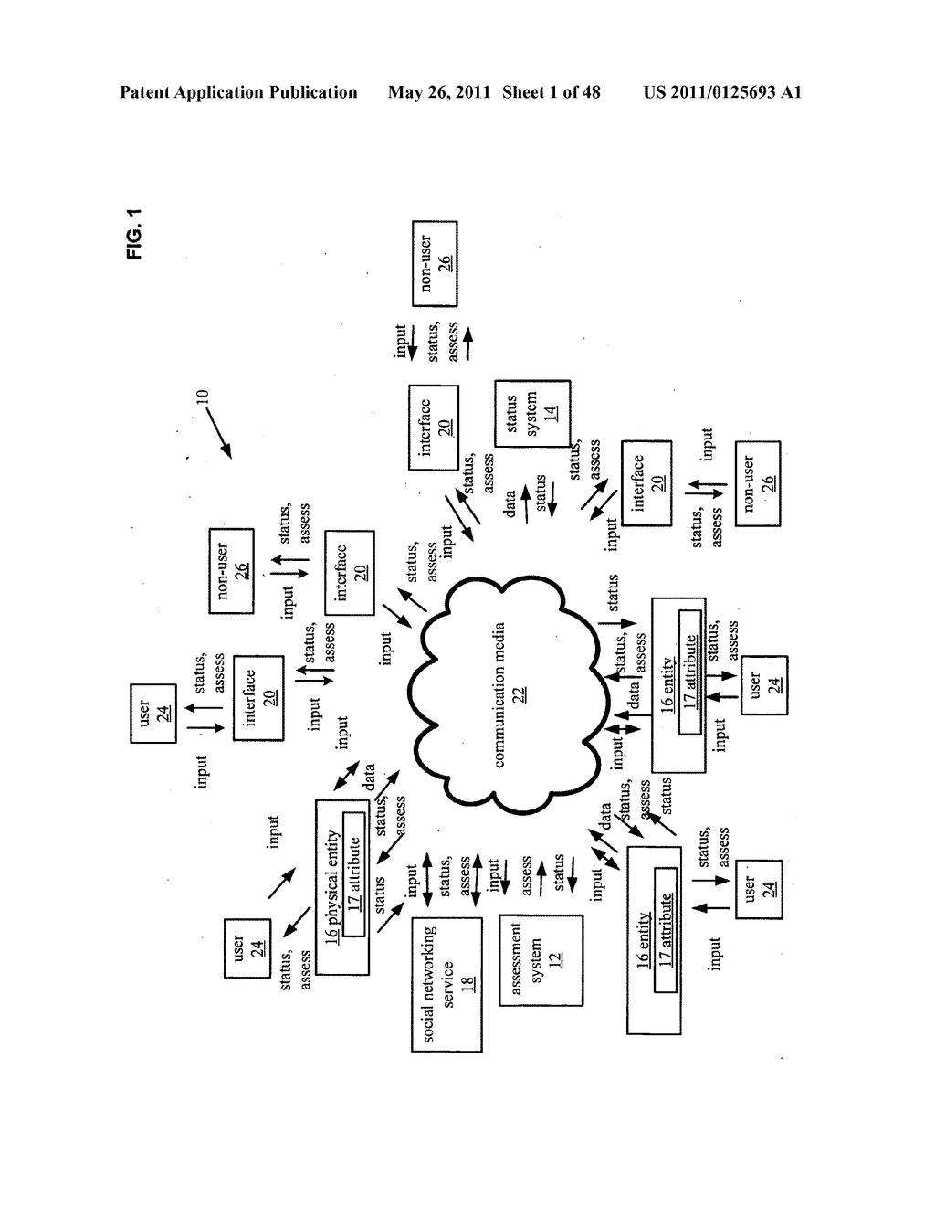 System and method for output of physical entity comparison associated wih a social network and selected based on location information - diagram, schematic, and image 02