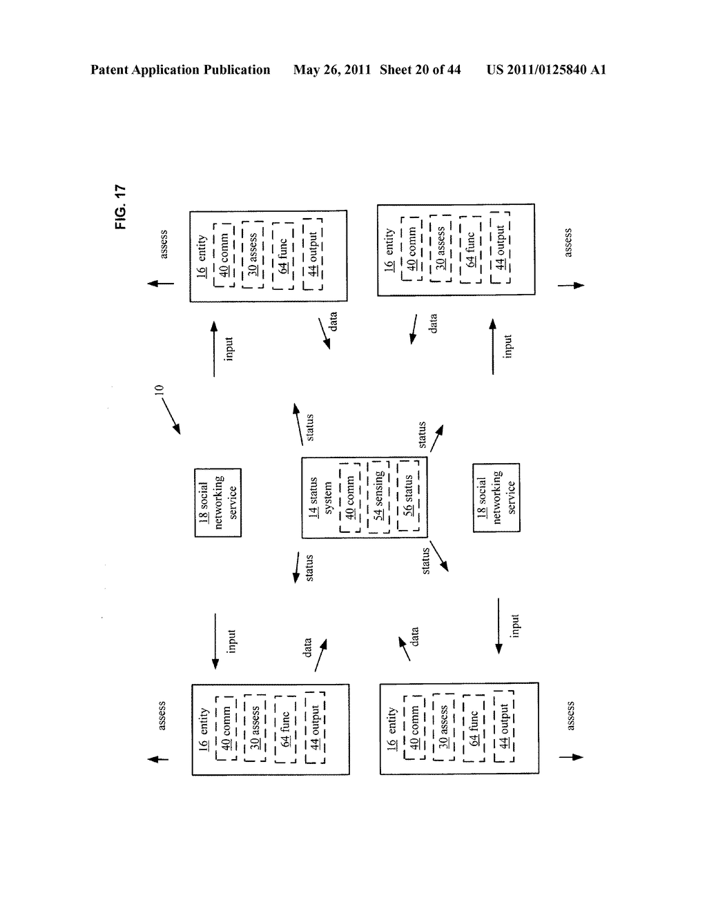 System and method for assessment of physical entity attribute effects on physical environments through in part social networking service input - diagram, schematic, and image 21