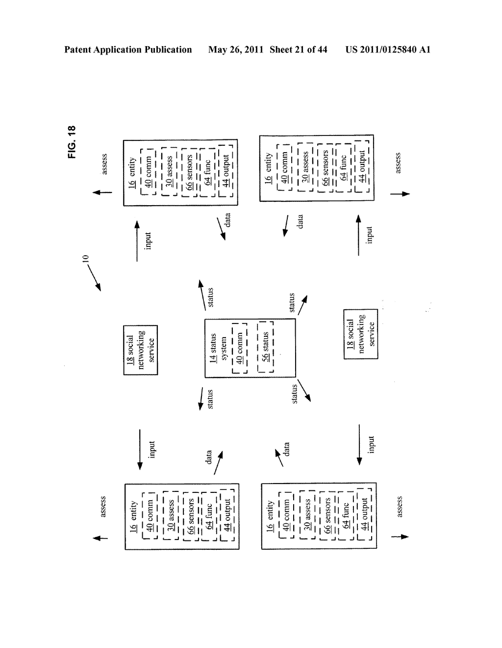 System and method for assessment of physical entity attribute effects on physical environments through in part social networking service input - diagram, schematic, and image 22