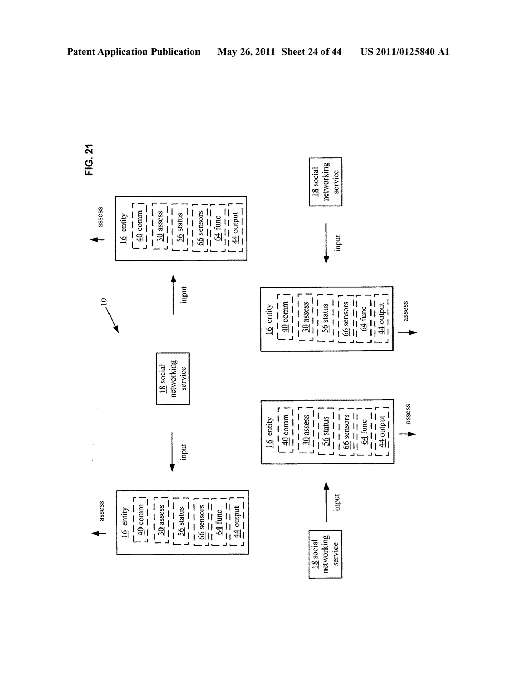 System and method for assessment of physical entity attribute effects on physical environments through in part social networking service input - diagram, schematic, and image 25