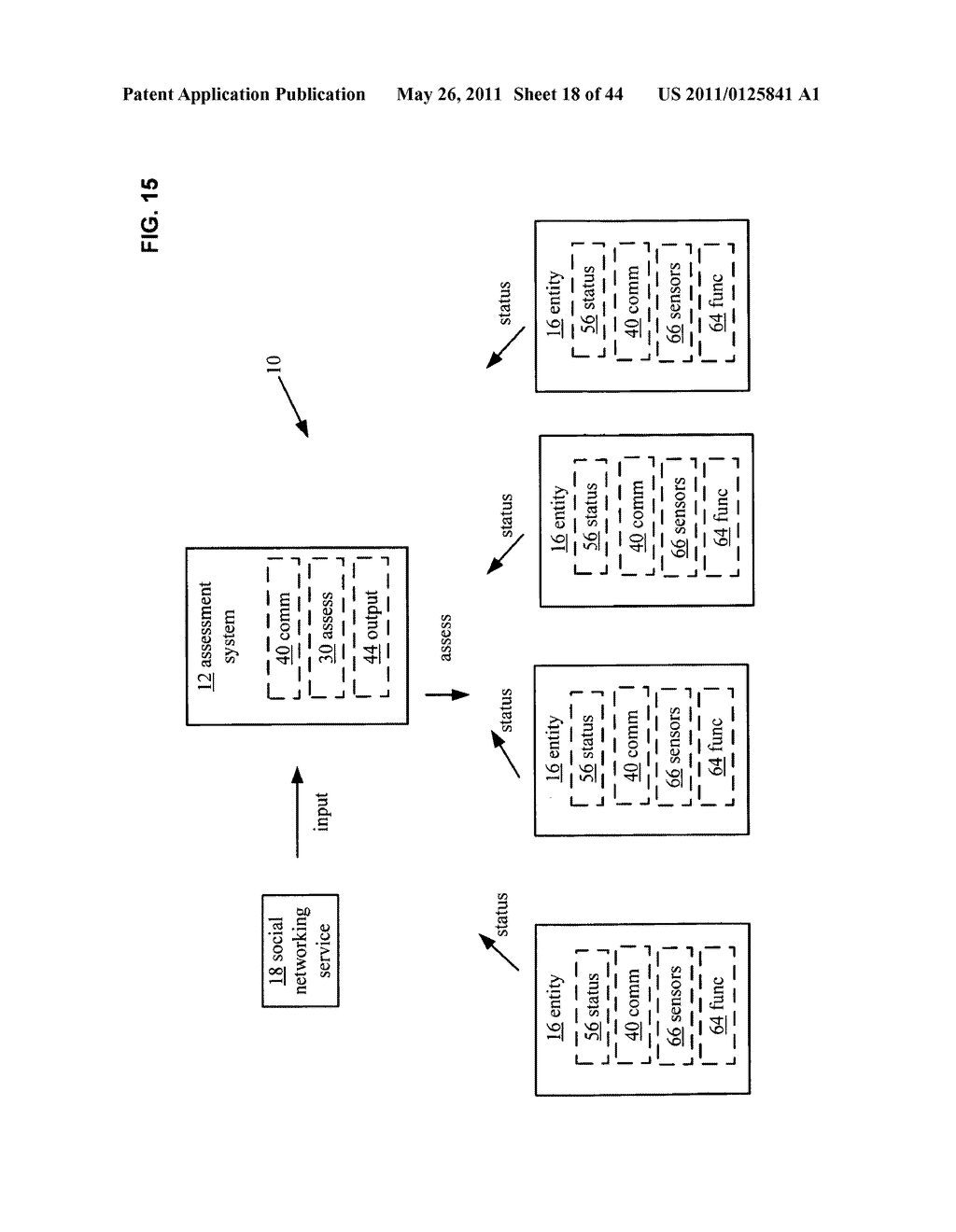 System and method for comparison of physical entity attribute effects on physical environments through in part social networking service input - diagram, schematic, and image 19