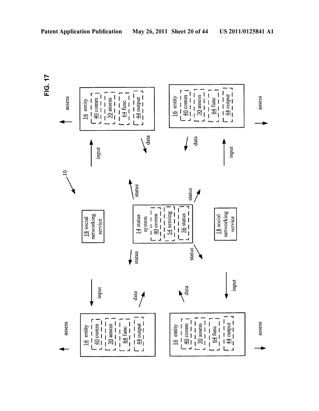 System and method for comparison of physical entity attribute effects on physical environments through in part social networking service input - diagram, schematic, and image 21
