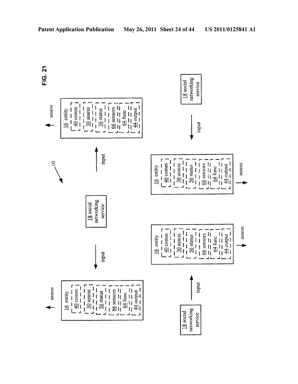 System and method for comparison of physical entity attribute effects on physical environments through in part social networking service input - diagram, schematic, and image 25
