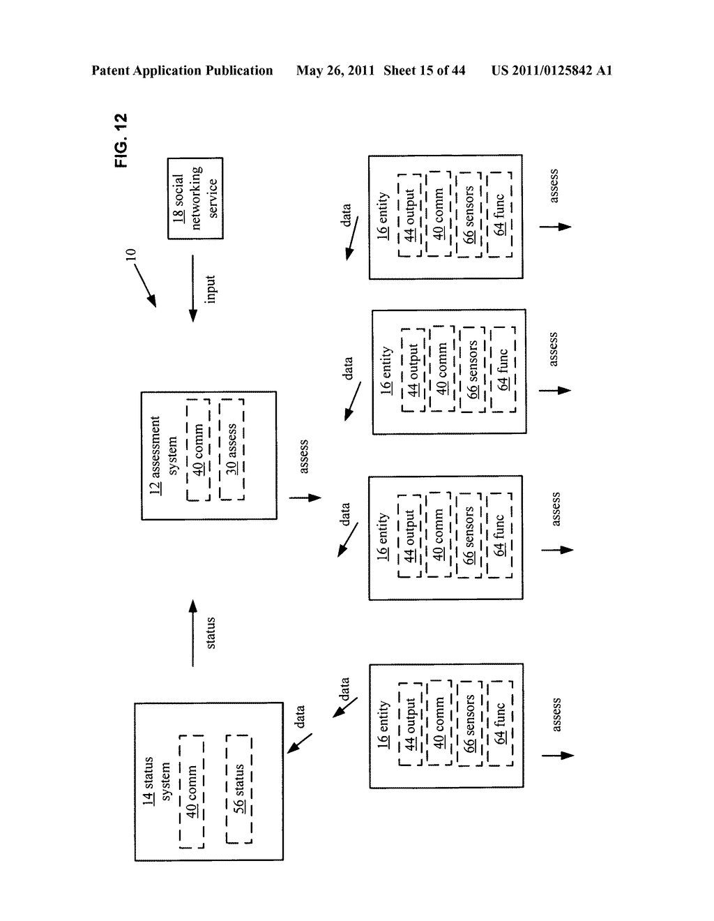 System and method for comparison of physical entity attribute effects on physical environments through in part social networking service input - diagram, schematic, and image 16